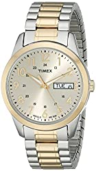 Timex Men's T2M935 Elevated Classics Dress Two-Tone Expansion Band Watch