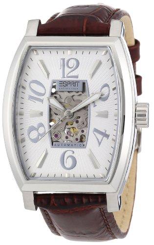 Esprit EL900191002 - Reloj cronógrafo automático para hombre con correa de piel, color marrón