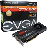 EVGA GeForce GTX260 Core 216 896MB DDR3 PCI-Express 2.0 Graphics Card 896-P3-1255-AR - Lifetime Warranty
