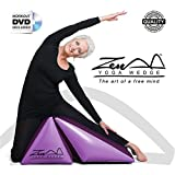 ZEN YOGA WEDGE - Complete With Beginners Workout DVD Fitness Program. The Purple Inflatable Wedge cushion unique shape provides a peaceful platform for postures, while offering exceptional comfort and support. New for 2014 /2015