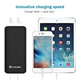 Coolreall 15600mAh Portable Charger Power Bank External Battery Pack with Quick Charge and LED Flashlight for iPhone, iPad, Samsung, Nexus, HTC and More (Black)