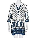 TONSEE-Womens-Long-Sleeve-Vintage-Printed-Dress