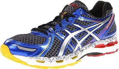 ASICS Men's GEL-Kayano 19 Running Shoe,Black/Lightning/Blue,10 M US