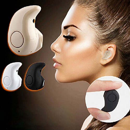 Newest Smallest Wireless Invisible Bluetooth Mini Earphones Earbuds Headsets Headphones Support Hands-free Calling For iPhone Samsung Xiaomi Sony Lenovo HTC LG and Most Smartphone. (Coffe)