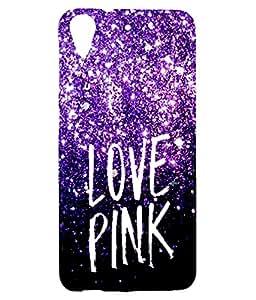Letz Dezine Love Pink Printed Design Mobile Back Case Cover for HTC Desire 626G Plus