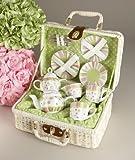 Delton - Large Dollies Tea Set/ Basket, Sprinkles