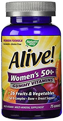 Alive! Women's 50+ Gummy Vitamins by Nature's Way - 75 gummies