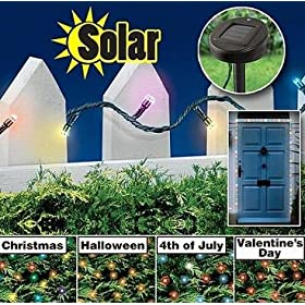 7 COLOR PROGRAMMABLE SOLAR LIGHTS