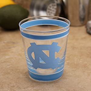 NCAA North Carolina Tar Heels (UNC) 10oz. Hand-Painted High Ball Glass
