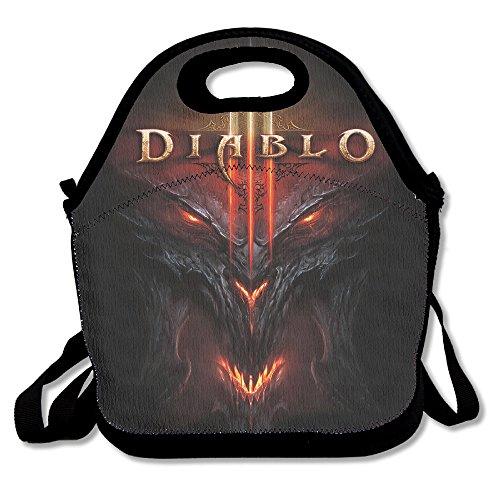 [HOHOTO ARPG Diablo 3 Fathom Studios Logo Lunch Bag] (Diablo Reaper Of Souls Costume)