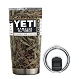 YETI Coolers 20 Ounce (20oz) (20 oz) Custom Dipped Rambler Tumbler Cup Mug Bundle with New Magslider Spill Proof Lid (Dipped Camouflage)