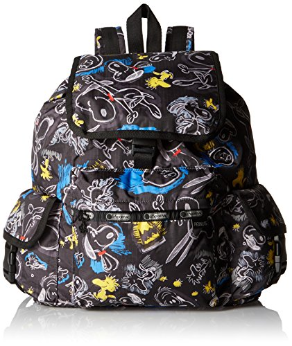 lesportsac-womens-x-peanuts-voyager-backpack-chalkboard-snoopy