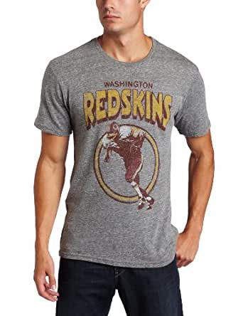 NFL Men's Washington Redskins Short Sleeve Triblend Crew (Steel, Small)