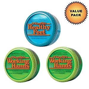 O'Keeffe's Working Hands Cream 2 Pack + O'Keeffe's Healthy Feet Cream :: Value Pack
