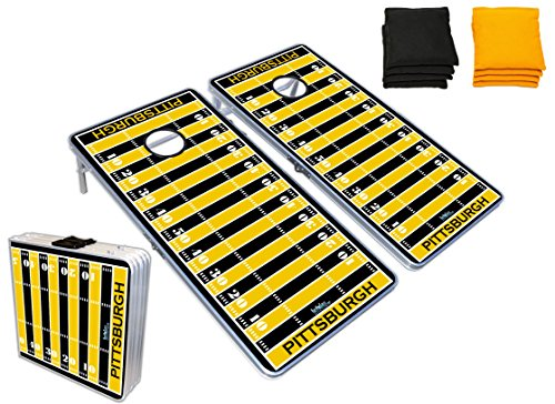 Cornhole Boards Bag Toss Game Set - Pittsburgh Football Graphic (Steeler Corn Hole Bags compare prices)