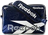 Reebok(リーボック) エナメル スポーツ ショルダー バッグ M (NAVY)