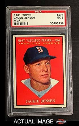 Amazon.com: 1961 Topps # 476 Most Valuable Player Jackie Jensen Boston