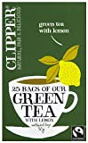 Clipper Green Tea with Lemon 25 Teabags (Pack of 6, Total 150 Teabags)