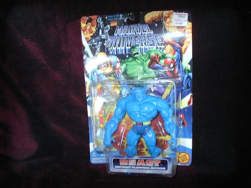 "Marvel Universe ~ Beast (Mutant Flipping Action) ~ 5"" Bendable Action Figure - 1"