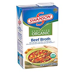 Swanson Organic Beef Broth, 32-Ounce Aseptic Box (Pack of 12)