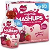 Revolution Foods Organic Mashups Fruit & Veggie Smoothie, Beetbox Berry, 3.17 Oz, 4-Count Mashups (Pack of 4)