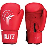 Blitz Sport PU Boxing Gloves 10oz Red