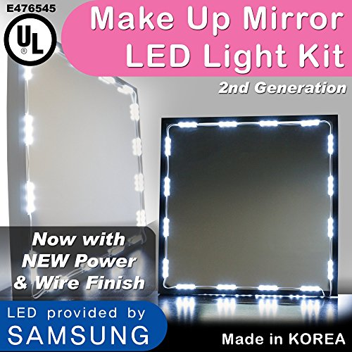 Crystal Vision Premium Samsung Pre-Installed Makeup Mirror LED Light Kit For Vanity Mirrors & Mirror Frames - Made In Korea (12.5ft) (Make Up Lighting compare prices)