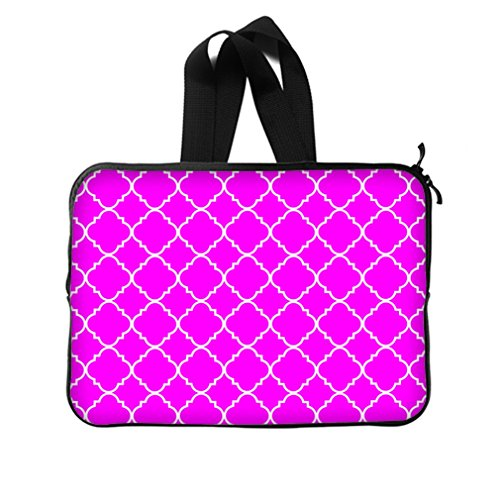 """Cool Quatrefoil Simple Purple And White Classic Reticular New Laptop Sleeve 14""""(Twin Sides) front-966880"""