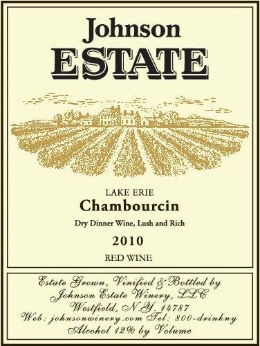 2010 Johnson Estate Chambourcin Red Wine 750 Ml