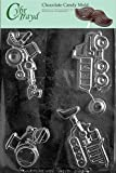 Cybrtrayd J096 Construction Vehicles Dump Truck Chocolate Candy Mold with Exclusive Cybrtrayd Copyrighted Chocolate Molding Instructions