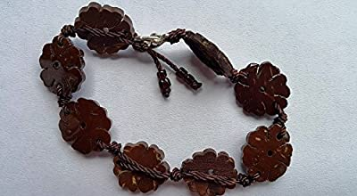 Bracelet made of coconut shell from Thailand