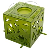 Flock Follies Contemporary Wild Bird Feeder with Water Bowl, Kiwi Green in Gift Box, Squirrel Proof, BF-Kby Flock-Follies