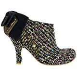 Irregular Choice Baby Beauty Gold Multicolour New Womens Hi Heels Shoes Boots