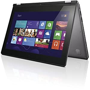 Lenovo IdeaPad Yoga 11S 29,5 cm (11,6 Zoll) Convertible Notebook (Intel Core i7 3689Y, 2,6GHz, 8GB RAM, 256GB SSD, Win 8) silver grau