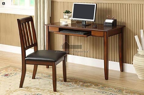 Cheap Laurl Bay Tobacco Oak Finish Console Table/Computer Desk with Chair (CM-DK6093)