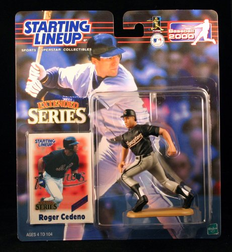 ROGER CEDENO / HOUSTON ASTROS 2000 MLB Extended Series Starting Lineup Action Figure & Exclusive Collector Trading Card