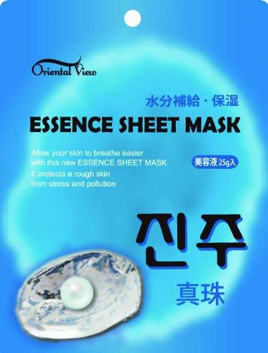オリエンタルビュー エッセンスシートマスク 真珠25g 美容エキス 天然エキスたっぷり 潤い ハリ 弾力のある美肌へ