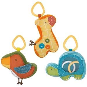 Skip Hop Giraffe Safari Rattle Trio Toy