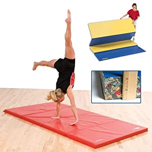 Buy GSC 2 Inch Thick Bonded Foam Mat With Velcro On All Sides - Blue 6 x 12 Foot by Athletic Connection