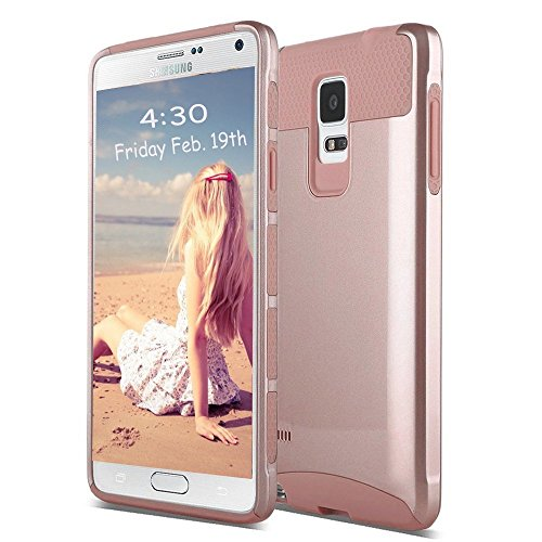 Note 4 Case,Eraglow Galaxy Note 4 Protective Case Shockproof Heavy Duty Hybrid Armor Protection Defender Case High Impact Case for Samsung Galaxy Note 4 (rose gold-rose gold) (Note 4 Protective Phone Case compare prices)