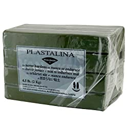 Plastalina Modeling Clay Gray Green 4.5lb