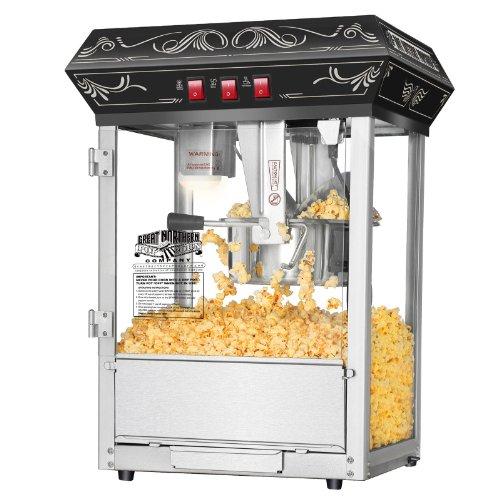 New Business Equipment Counter Top 850W Black 8 Oz Kettle Popcorn Popper Machine