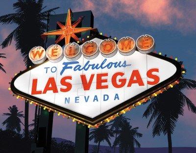 las vegas sign at night. A. Ross - Vegas Sign Night