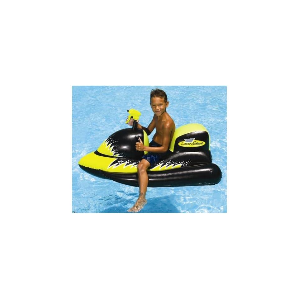 Kids inflatable jet ski pool ride on toy toys games - Amazon inflatable swimming pool toys ...