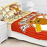 Scooby Doo Baseball - Blanket and Bed Sheets Set - Twin Size Bedding