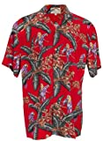 Paradise Found Men's Jungle Bird - Magnum Pi - Hawaiian Print Aloha Shirt