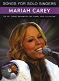 Songs For Solo Singers: Mariah Carey. Partitions, CD pour Piano, Chant et Guitare(Symboles d'Accords)