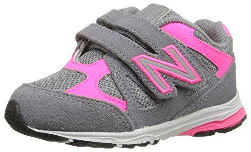 New Balance KV888V1 Infant Running Shoe (Infant/Toddler), Grey/Pink, 6 M US Toddler (New Balance Baby Shoes compare prices)