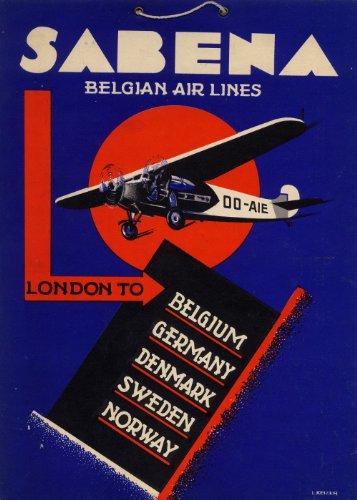 aviazione-vintage-travel-sabena-airlines-per-il-belgio-belga-air-line-london-beligium-germania-norve