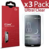 iCarez® [HD Clear] [ Unique Hinge Method With Installation Kits ]Highest Quality Premium LG G Flex Screen protector High Definition Ultra Clear & anti bacterial & anti Scratch & bubble free & reduce fingerprint & No rainbow & washable Screen Protector **PET Film Made in Japan** Easy install & Green healthy Product with Lifetime Replacement Warranty (3-Pack) - Retail Packaging 2014